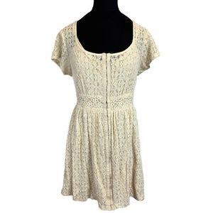 Anthropologie Taylor & Sage Cream Lace Dress XL